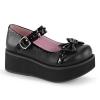SPRITE-04 Black Vegan Leather/Patent